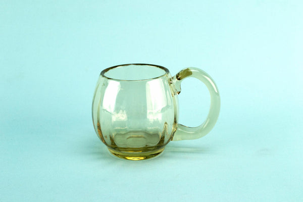 Whitefriars smoky grey glass tankard, English 1920s