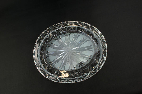 Cut crystal Stuart platter, English 1950s
