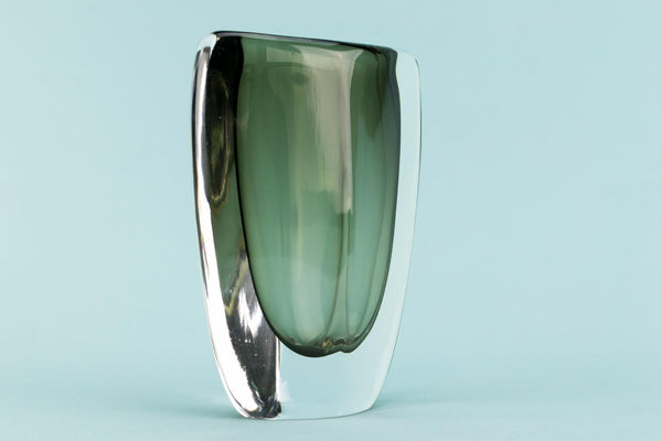 Orrefors Nils Landberg glass vase, Swedish 1950s