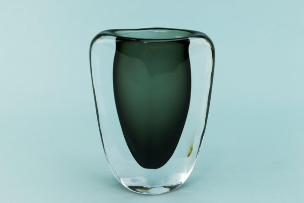 Small Orrefors Nils Landberg glass vase, Swedish 1950s
