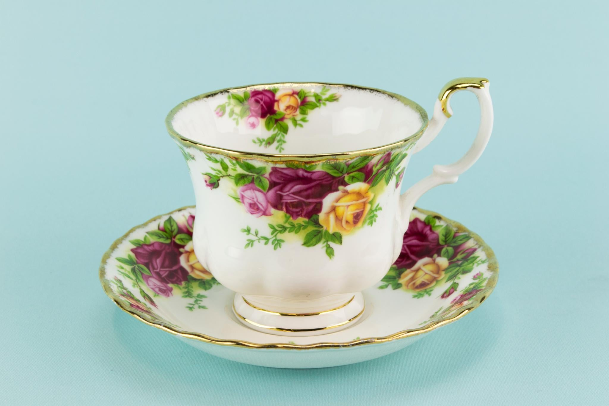 Royal Albert teacup saucer and plate 1960s