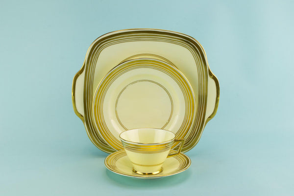 Art Deco tea set for 6, English 1920s