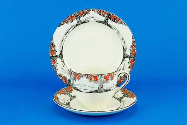 Orange Tree single tea set, English Art Deco 1920s