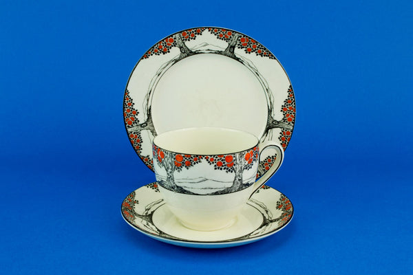 Art Deco Orange tea set, English 1920s