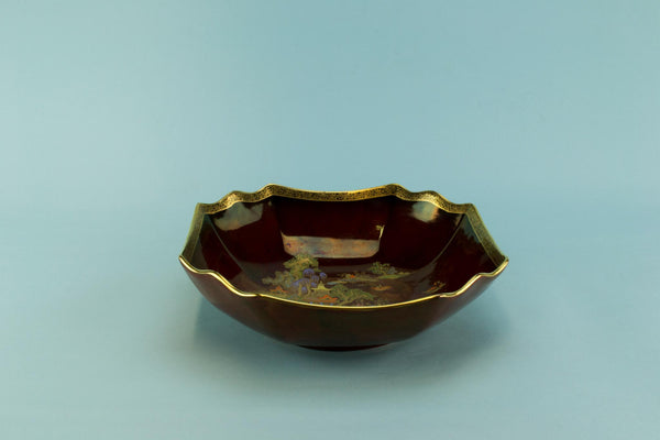 Rouge Royal Art Deco serving bowl, English 1930s