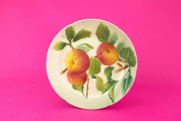Majolica Apple Dessert plate, French circa 1900