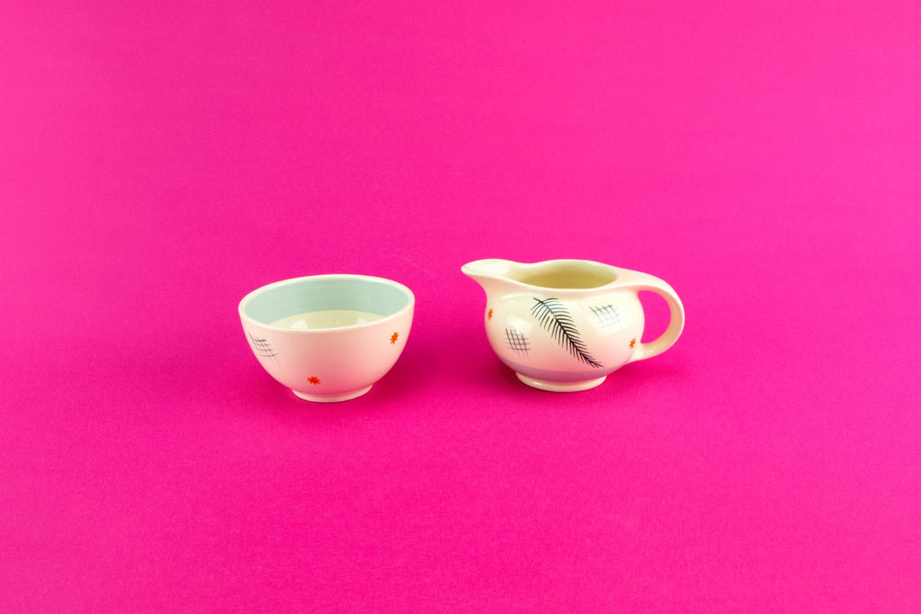 Art Deco milk and sugar set, English 1930s