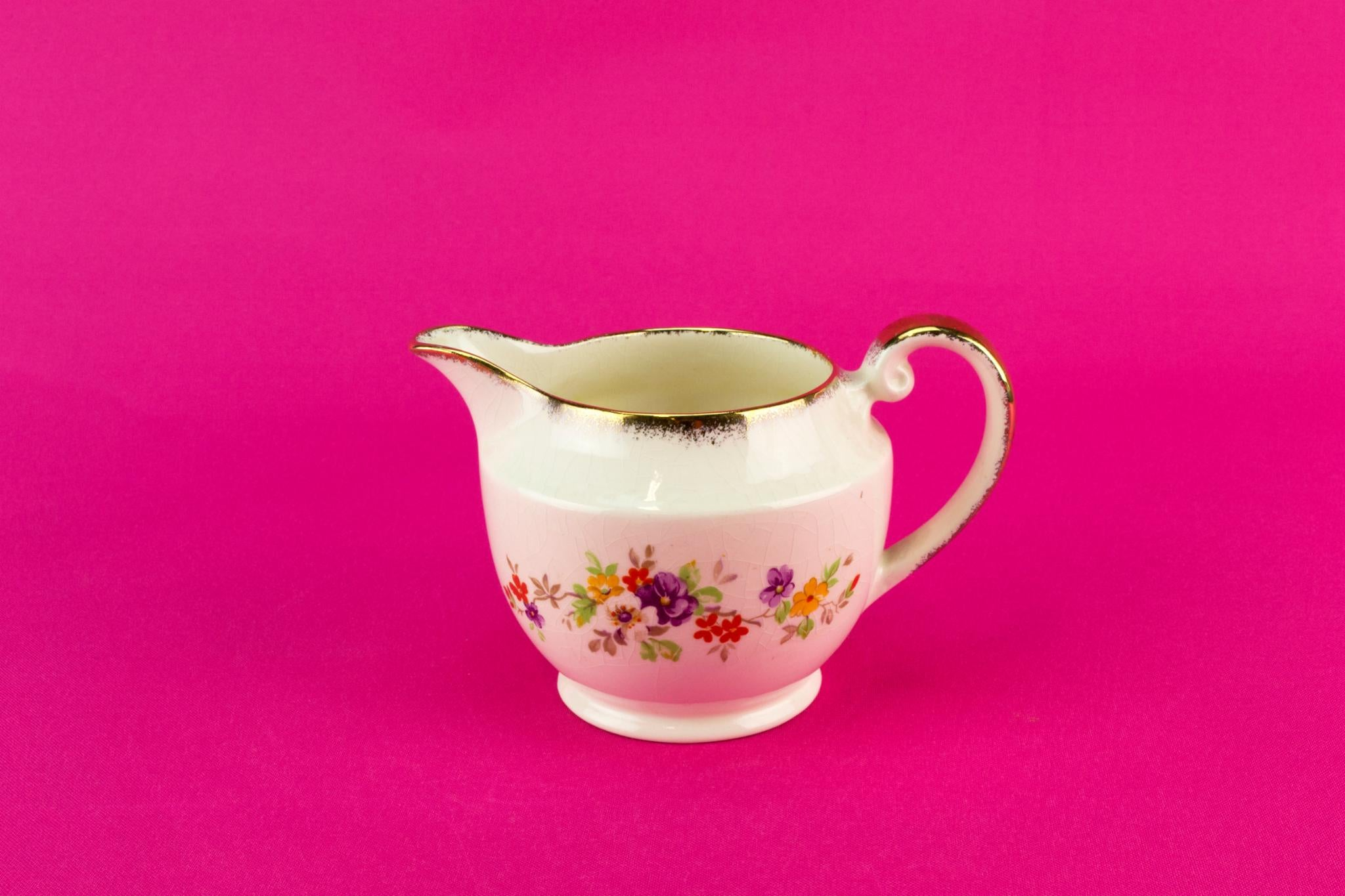 Floral milk jug, English 1940s
