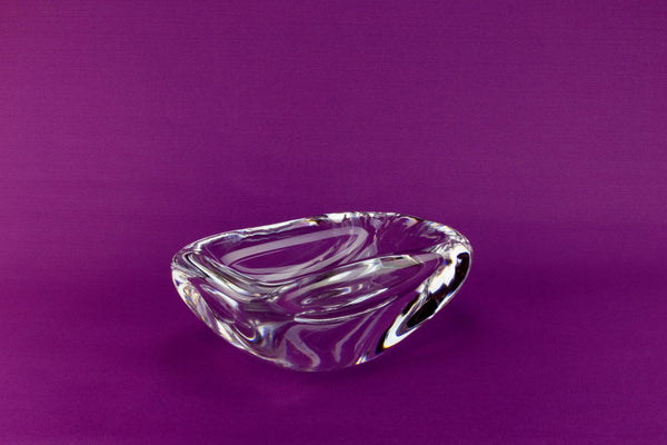 Orrefors heavy glass bowl, Swedish 1950s
