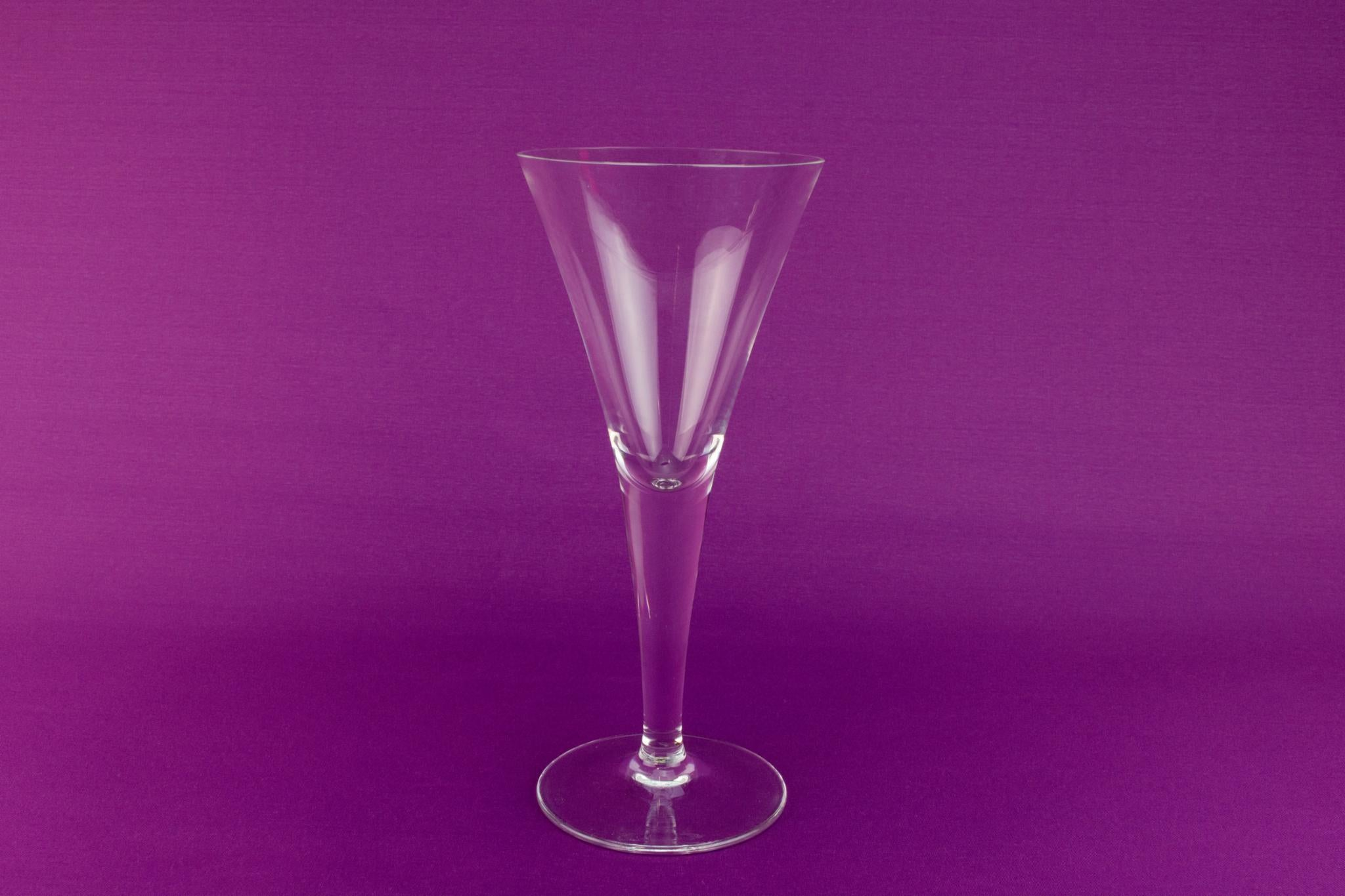 2 wine flute glasses by Royal Doulton