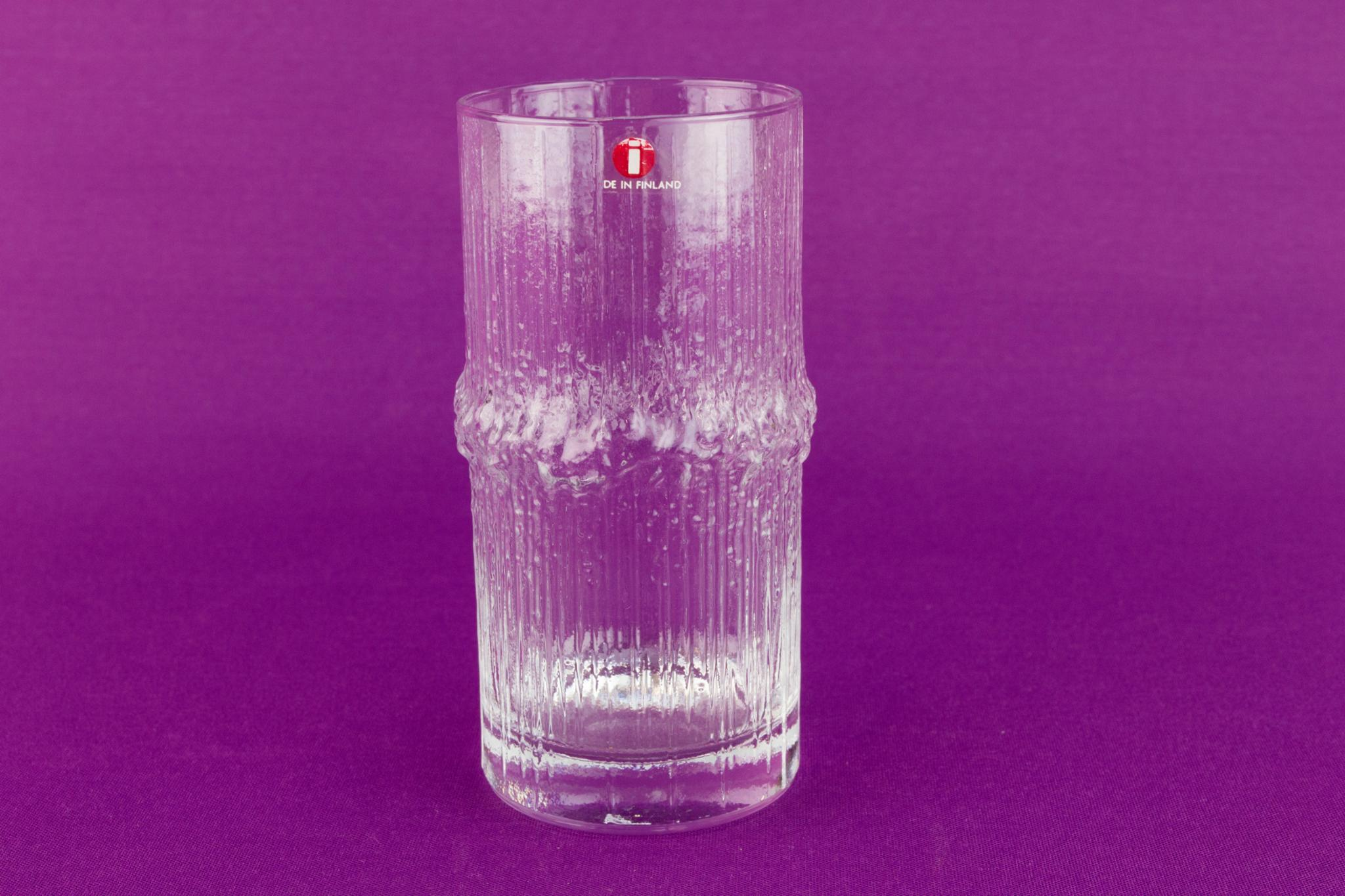 3 Highball glasses by Iittala, Finland 1970s