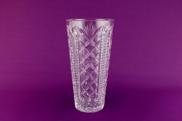 Large Waterford crystal vase, Irish circa 1970