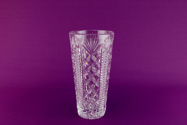 Medium Waterford crystal vase, Irish 1960s