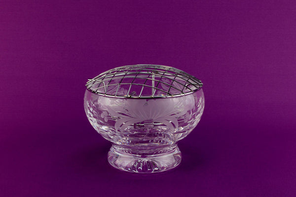 Cut glass Royal Brierley rose bowl