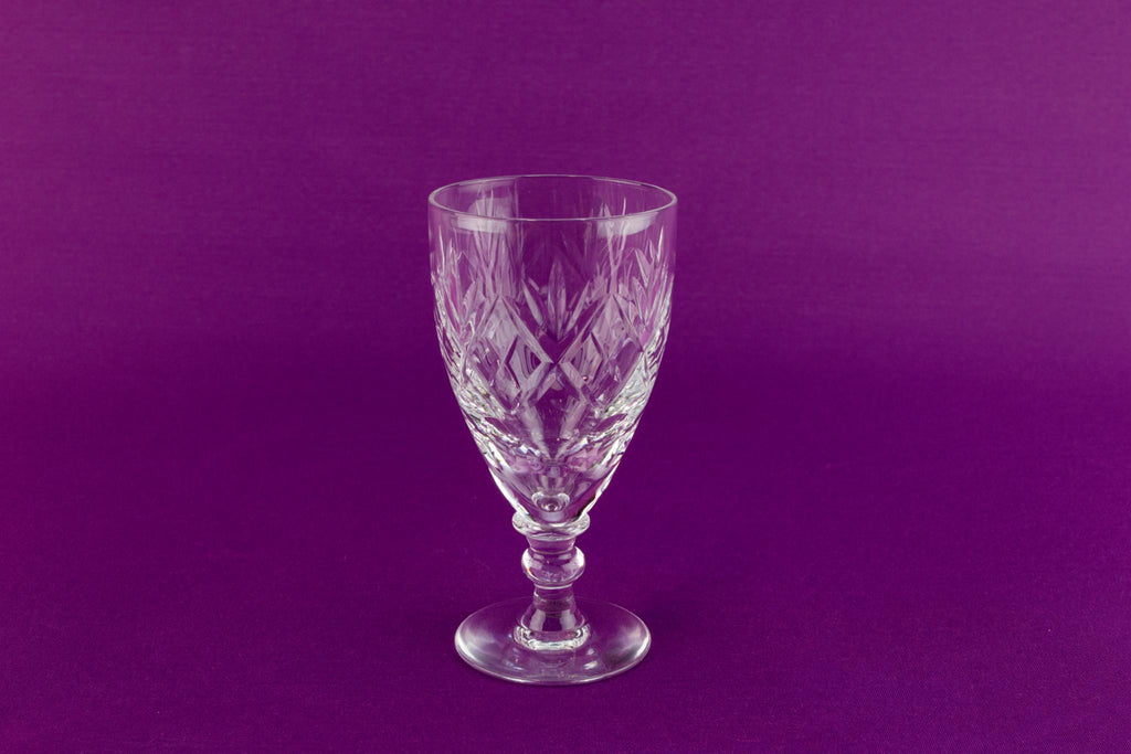 4 Webb Corbett port glasses, English 1960s