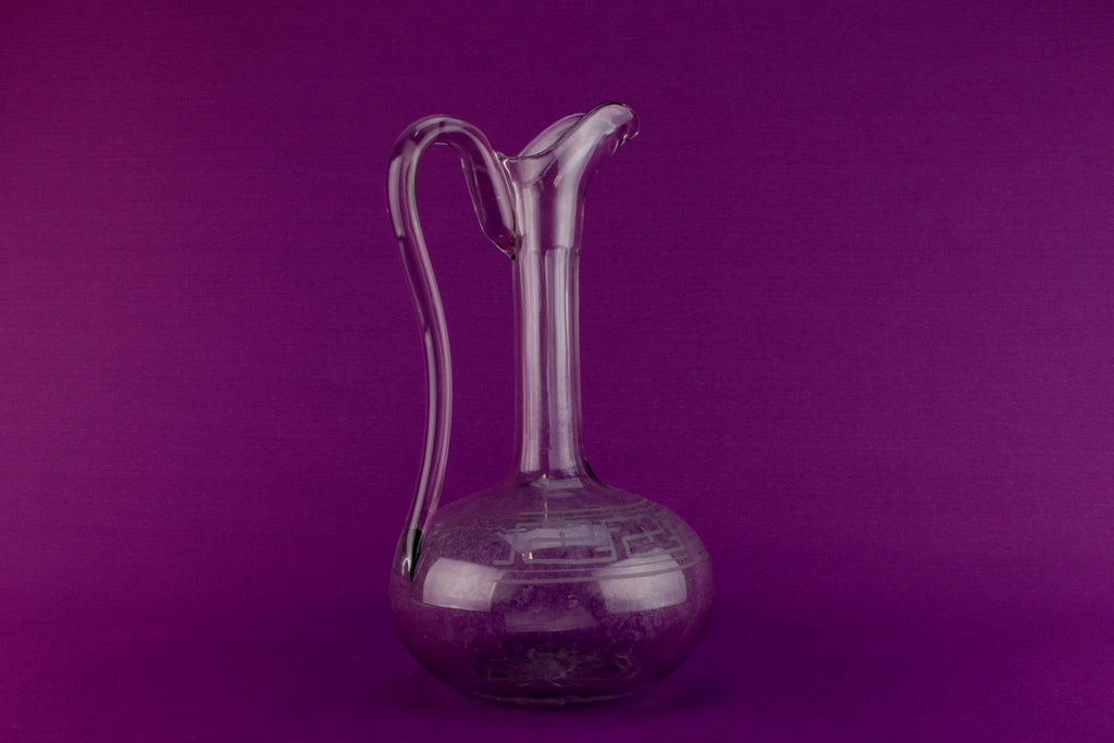 Cut glass wine carafe, English circa 1900