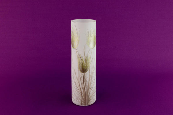 Small white glass vase by Nobile