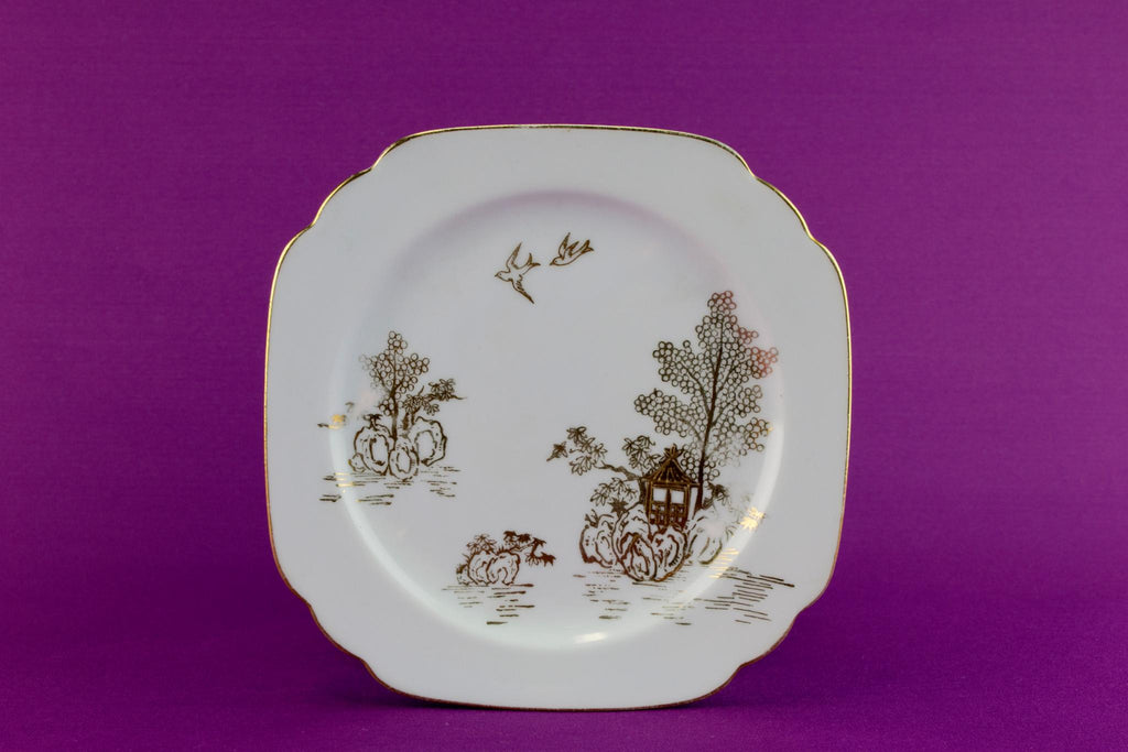 5 small Noritake porcelain plates, Japanese 1910s