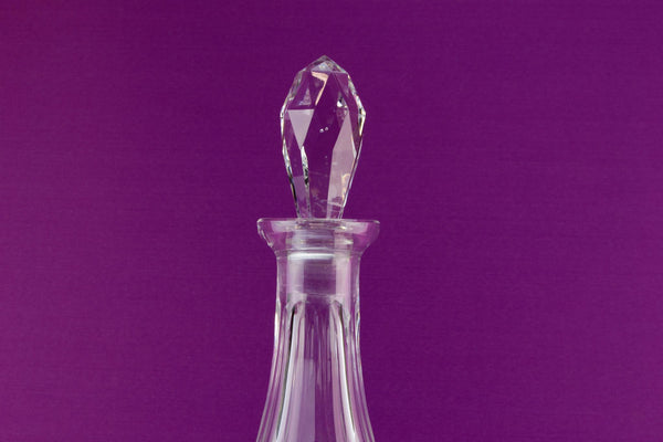 Large cut glass wine decanter