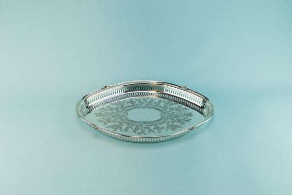 Silver plated medium drinks serving tray