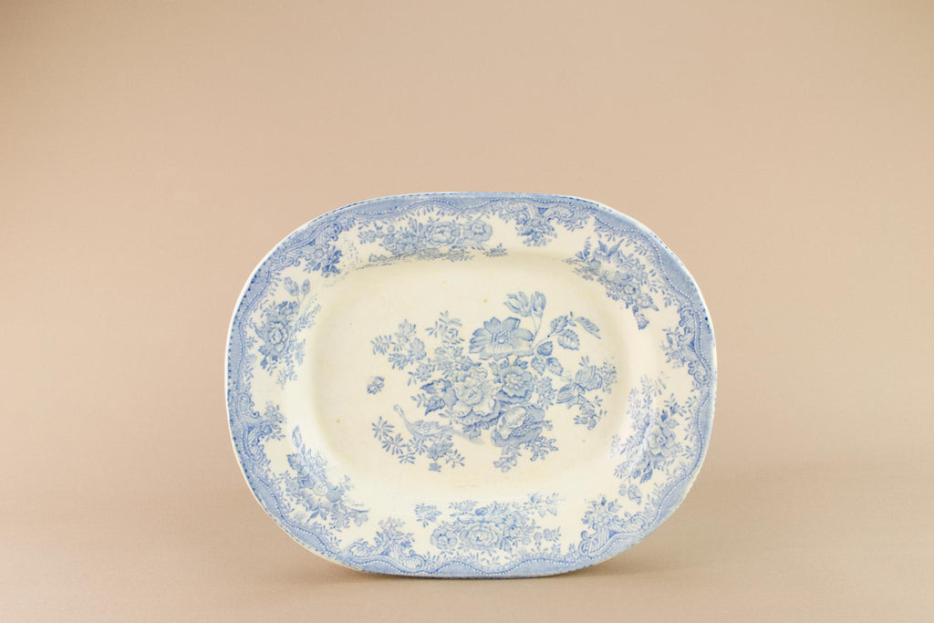 Blue and White small serving platter, English 19th century
