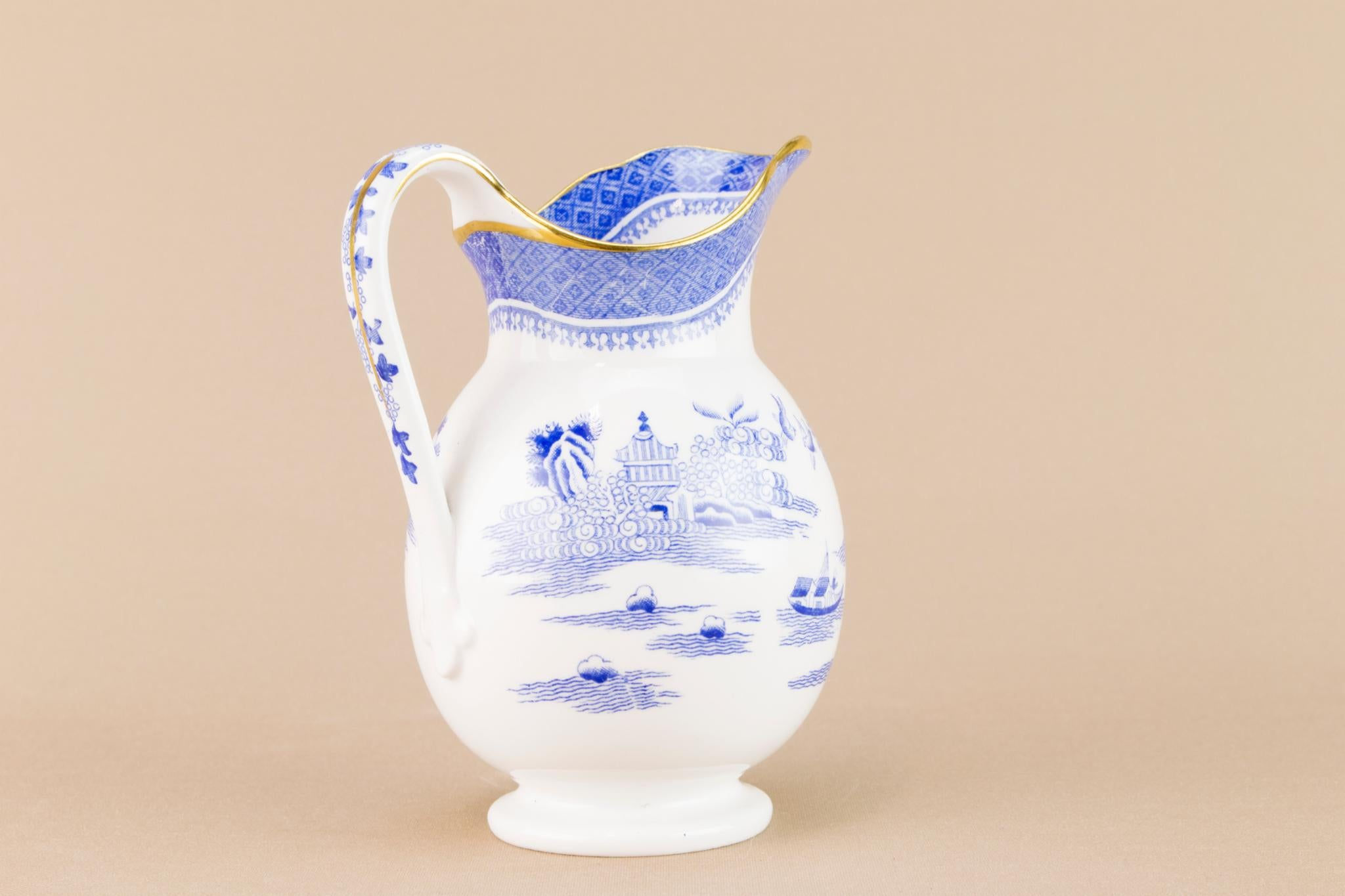 Copeland blue and white milk jug, English Early 1900s