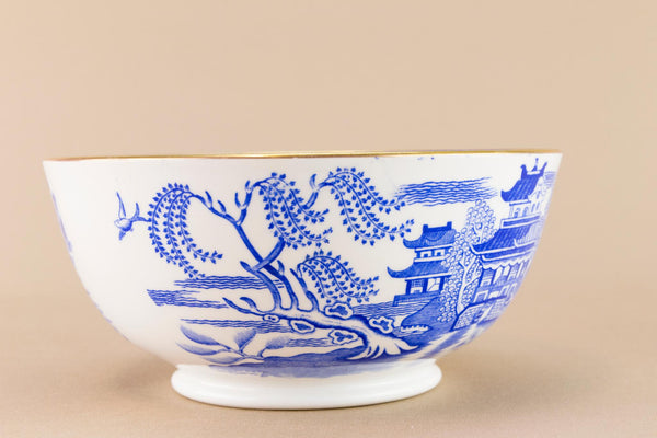 Blue willow Copeland sugar bowl, English Early 1900s