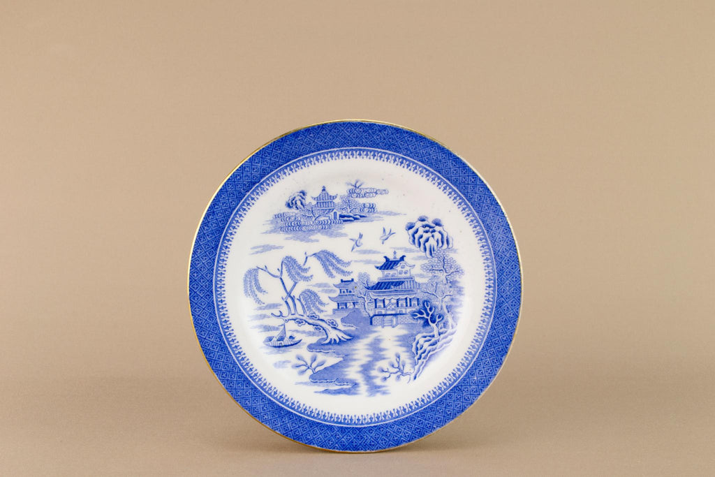 Blue and white small Copeland plate, English Early 1900s