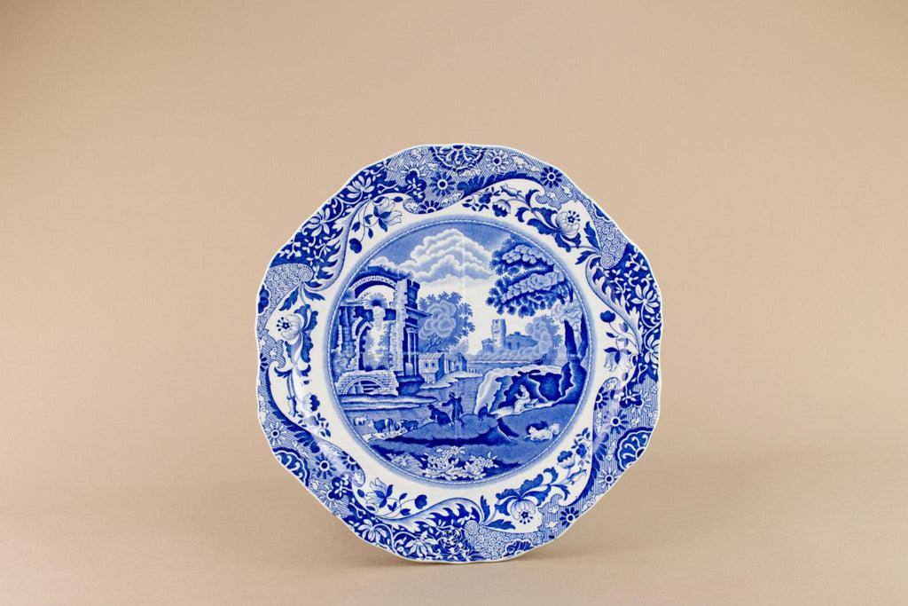 Blue and white Copeland dish, English 1930s