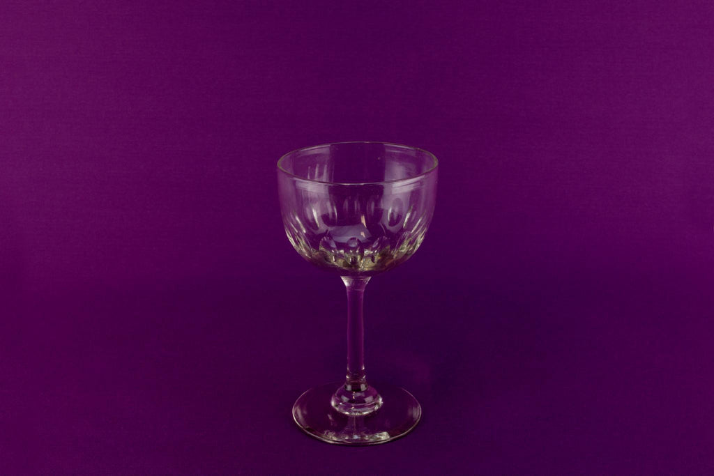 4 dessert wine glasses, English circa 1900