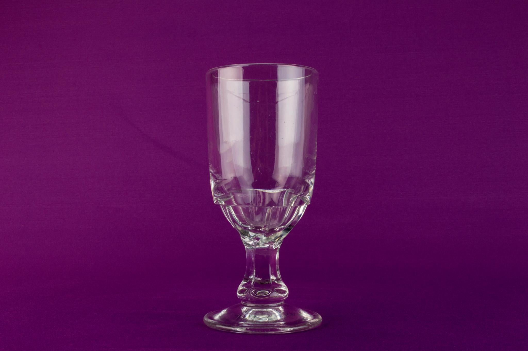 Pressed glass beer rummer, English 19th century