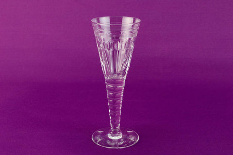 Cut glass Oleta Stuart champagne flute, English circa 1950