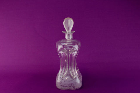 Flask shaped wine decanter, English circa 1900