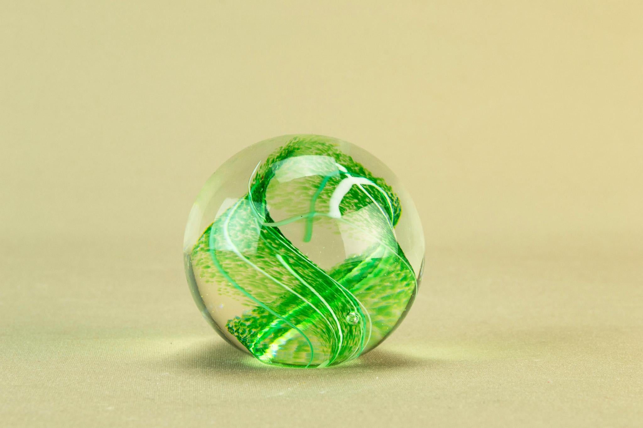 Green Glass Paperweight by Glasform