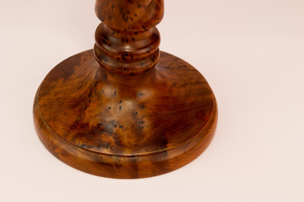 Birds eye maple barley twist candlestick