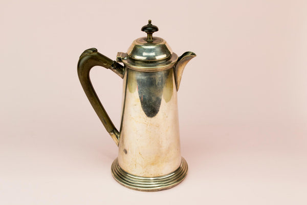 Silver plated coffee pot, English late 19th century