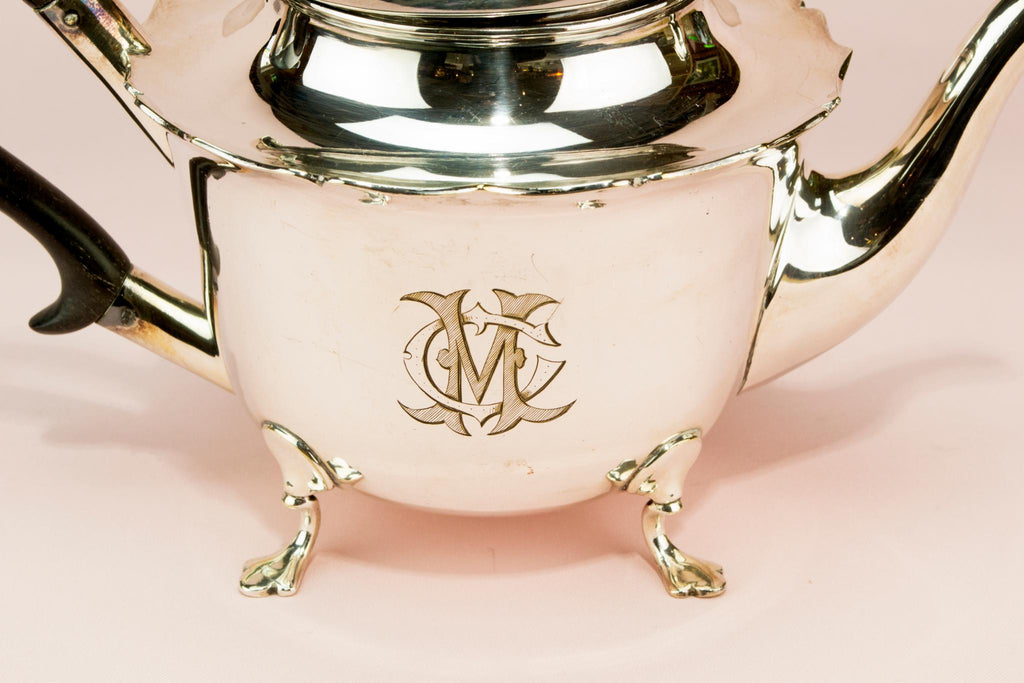 Silver plated tea and coffee set, English early 1900s