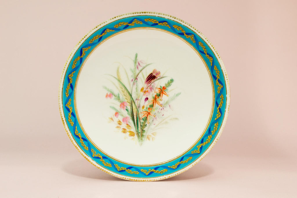 Royal Worcester dessert plate, English 1890s