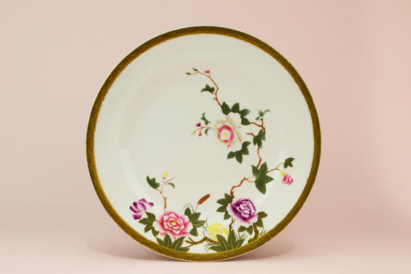 Royal Worcester floral cake plate, English 1882