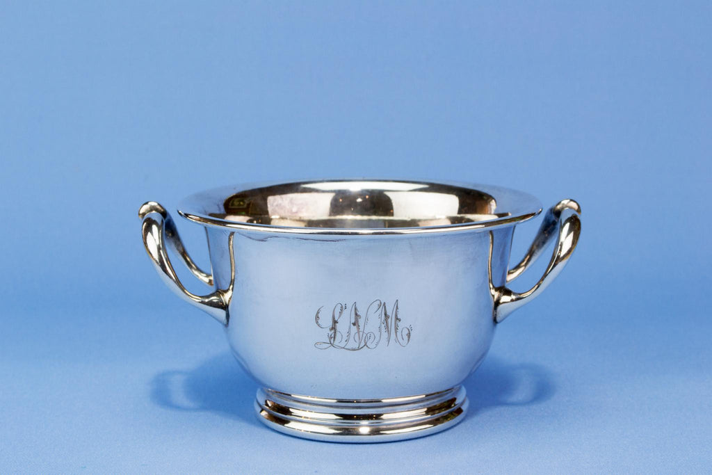 Small silver plated ice bucket, English circa 1900