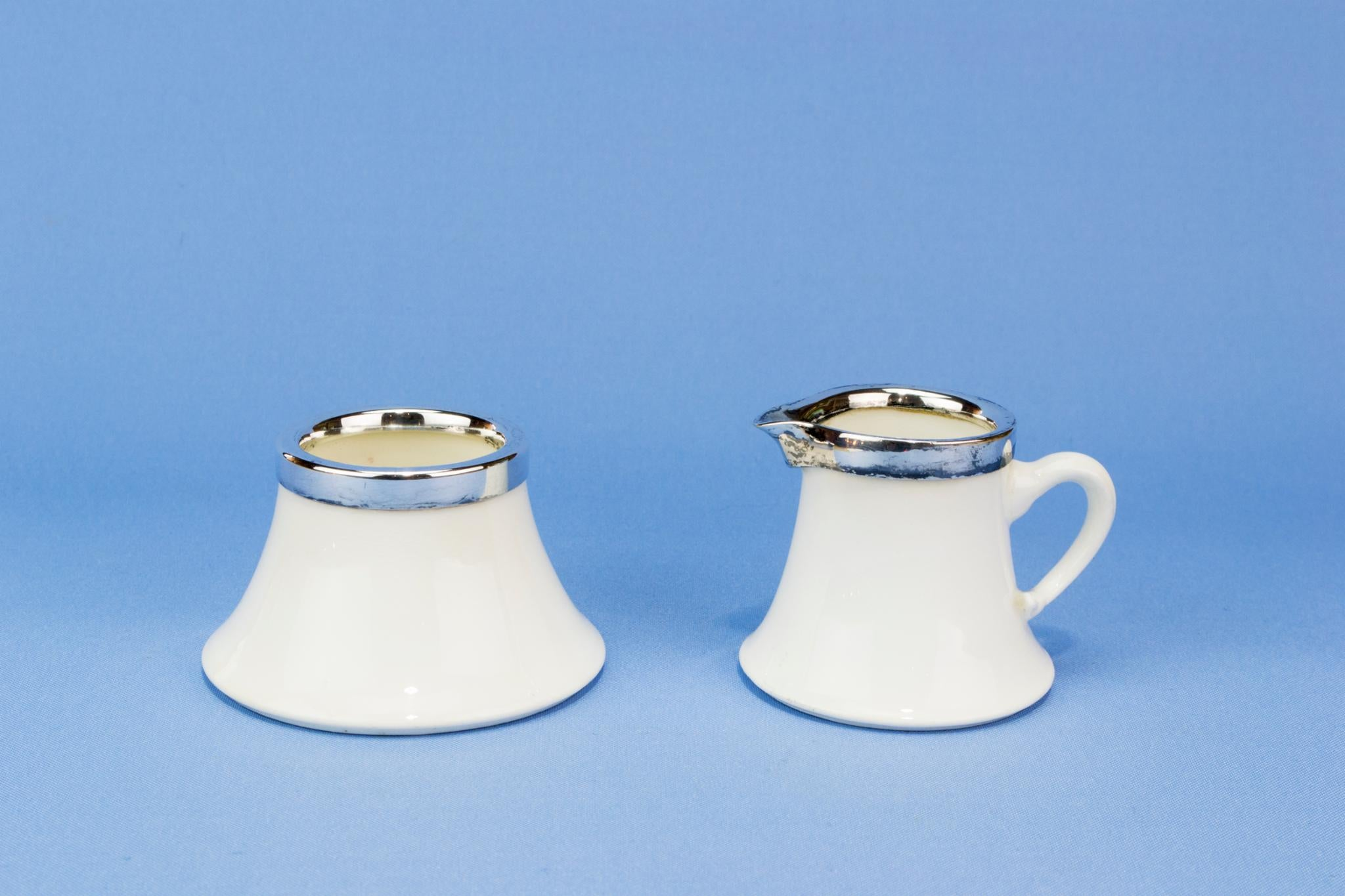 Coalport milk and sugar set, English circa 1900