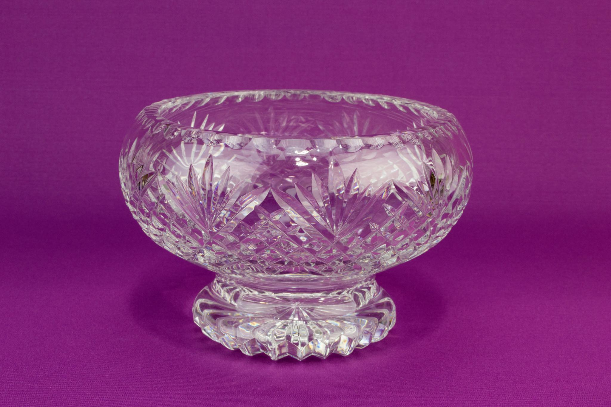 Royal Brierley Cut Glass Serving Bowl