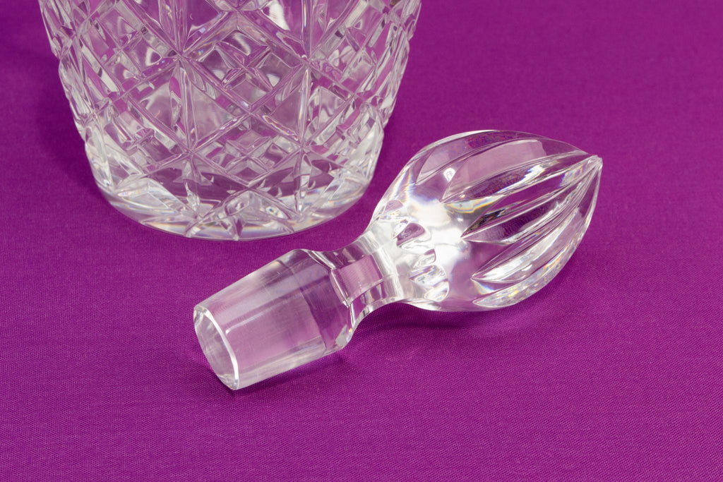 Cut Glass Table Wine Carafe