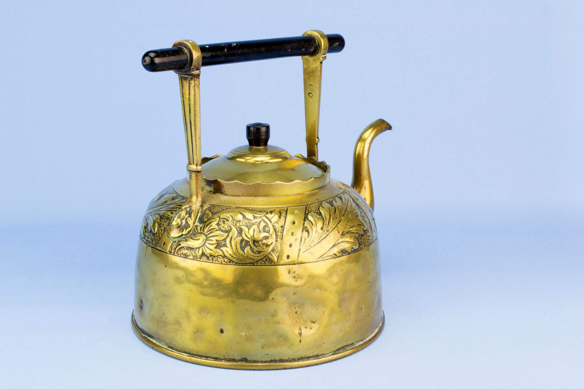 Army & Navy Arts and Crafts Brass Kettle, English 1890s
