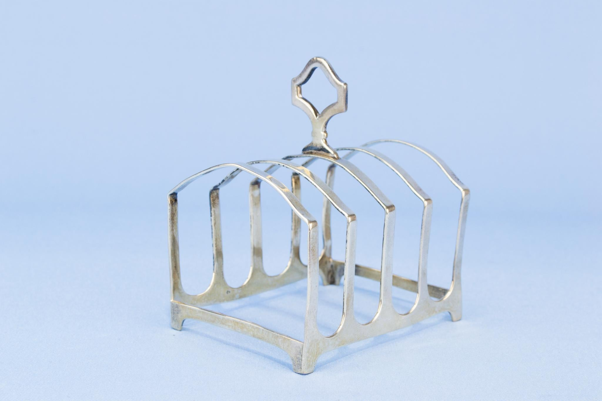 Sterling Silver Art Deco toast rack, English 1927