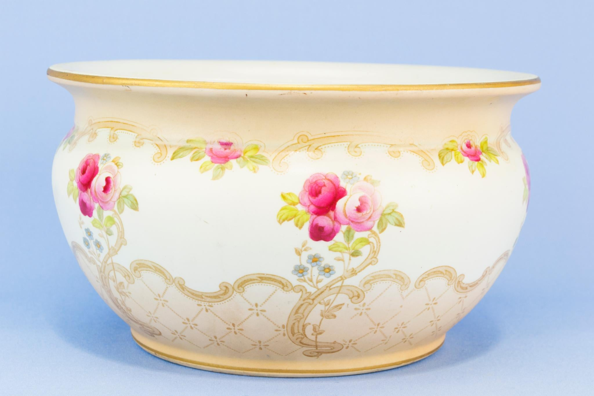 Pink Floral planter, English Early 1900s