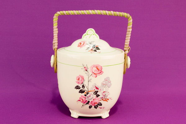 Ceramic ice bucket jar, English 1930s