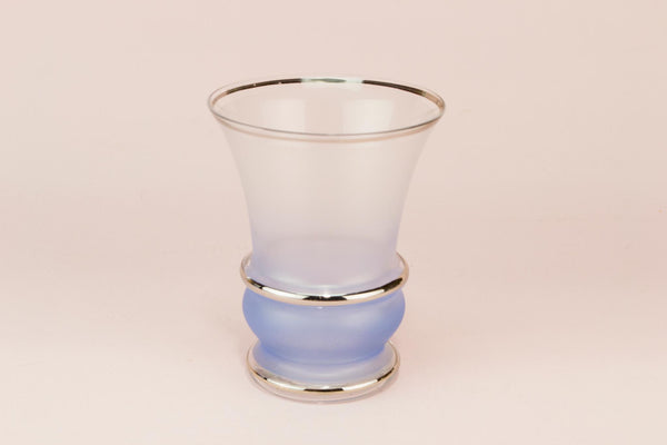 6 small Blue cocktail glasses, English 1950s