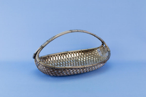 Christofle Art Deco bread basket, French 1930s