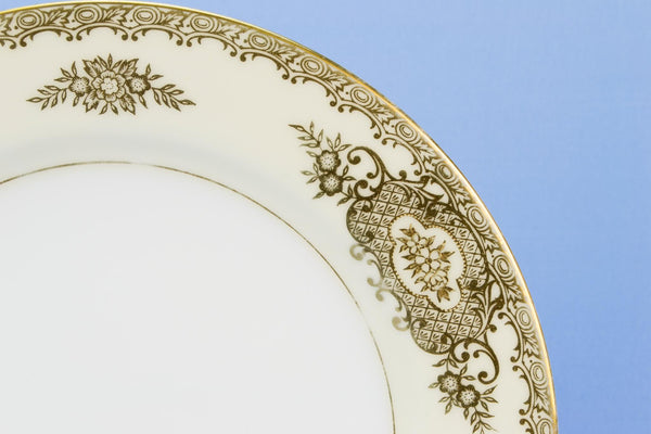 6 Noritake gilded medium plates, Japanese circa 1950